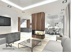Projekt strefy dziennej w domku jednorodzinnym Living Room, Projects