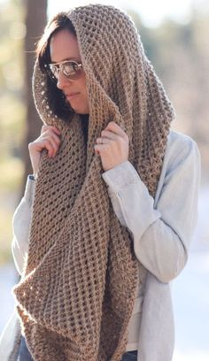 Free Knitting Pattern for Traveler Infinicowl - Cozy mesh infinity scarf from Mama in a Stitch can be knit lengthwise or end to end.