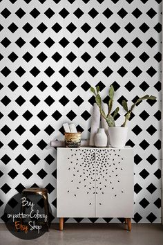 Geometric wall art mural / Removable wallpaper by patternsCOLORAY