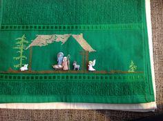 Pesebre en punto de cruz Holidays And Events, Margarita, Needlepoint, Smocking, Nativity, Needlework, Elsa, Merry Christmas, Projects To Try