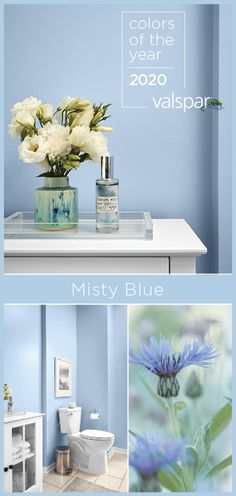 """A calming cornflower blue with a youthful attitude has a renewing strength and . Blue Paint Colors, Paint Colors For Home, Wall Colors, House Colors, Nautical Paint Colors, Blue Bedroom Paint, Bathroom Paint Colors, Bedroom Decor, Blue Bedrooms"
