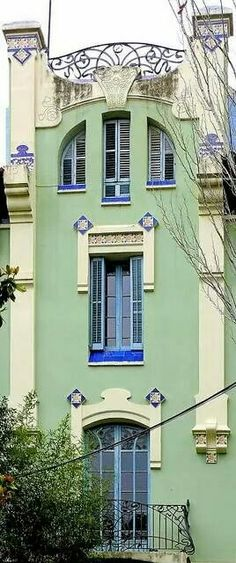 Art Nouveau Facade Barcelona. ..via Just Sparkles