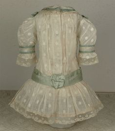 Wonderful Antique Batiste French Bebe Dress and Bonnet for JUMEAU, BRU or other French Bebe Doll
