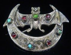Goth Shopaholic: Intriguing Antique Victorian Bat Brooch