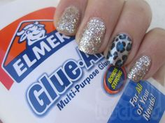 "DIY ""Elmer's Glue"" Peel Off Base Coat and Glittery Manicure!"