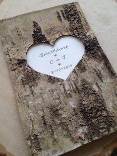 Birch Bark Wedding Guest Book Birch Bark Advise Book