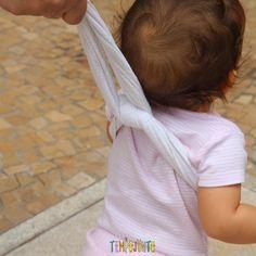 Dicas para incentivar o bebê a andar - apoio de pano