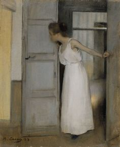 Woman Getting Ready to Meet the Day by Ramon Casas i Carbo (Spanish painter, 1866-1932)