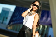 VALENCIA FASHION WEEK LOOK: LEATHER PENCIL SKIRT   With Or Without Shoes - Blog Moda Valencia Tendencias