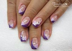 French manicure purple tips polish 22 ideas for 2019 Nail Tip Designs, Purple Nail Designs, French Nail Designs, Creative Nail Designs, Creative Nails, Frensh Nails, French Manicure Nails, French Tip Nails, Cute Nails