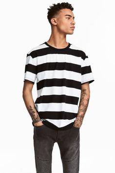 T-shirt w paski - Biały/Czarny - ON | H&M PL 1
