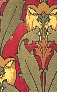 Looking for patterns? Aesthetic Interiors catalog shows multiple patterns from the Arts & Crafts Movement 1890-1910. See their full catalog for other periods.
