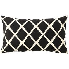 Serena & Lily Diamond Lumbar Pillow Cover – Black (80 AUD) ❤ liked on Polyvore featuring home, home decor, throw pillows, pillows, fillers, decor, black accent pillows, modern throw pillows, serena & lily and black toss pillows