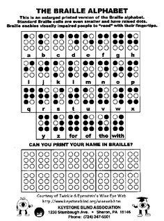 Twinkle & Eyenstein: Braille