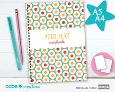 Personalised Notebook (Trevor Target), handmade stationery - lots of designs to choose by aabecreative on Etsy