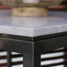 OUTDOOR MARBLE DINING TABLE: Quarry Range Outdoor Furniture | The Urban Balcony Outdoor stainless steel dining table with black or white marble or caesarstone top. Range of sizes available $1195 to $2695