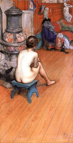 Leontine Sitting in the Atelier ~ Carl Larsson