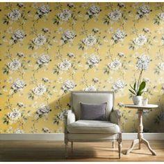 Gran Deco Botanical Garden Wallpaper Yellow from Homebase.co.uk