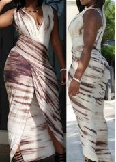 Front Slit Ruched Bodycon Maxi Dress