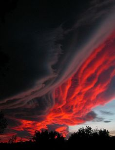 Dramatic sunset by Marlis1, Tortosa, Spain / #clouds