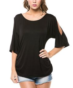 This Black Cutout Top is perfect! #zulilyfinds