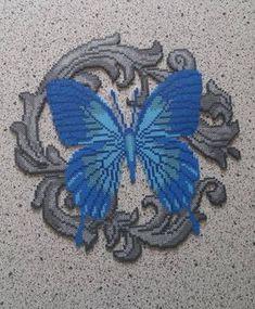 Made this finish today I love how it turned out! #finished #today #love #how #it #turned #out #butterfly #sommerfugl #amazing #beads #perlerbeads #perler #hamaperler #hamaminibeads #mini