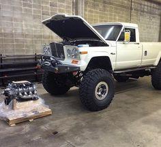 Jeep pickup, getting an LS transplant...