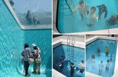 Leandro Erlich was born in Buenos Aires, Argentina, in 1973. His installations and sculptures use optical illusion to invert and manipulate space. The viewer becomes centre on a theatrical stage that subverts the ordinary.