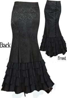 Victorian Side Button Jacquard Ruffle Skirt by Amber Middaugh -Save 37% at Chicstar.com Coupon: AMBER37