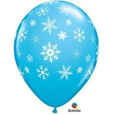 12 Light Blue 11 Latex Balloon with Falling White Snowflakes ** You can get additional details at the image link.
