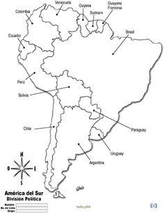 Mapa de la hidrografa de Amrica con nombres  Escuela