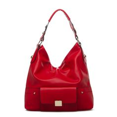 love a soft, big red bag