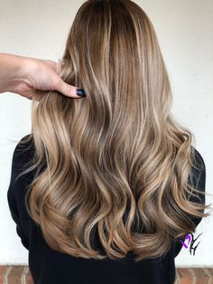Natural blonde balayage color!