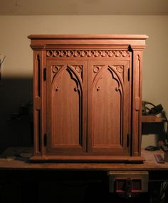 Amazing More Of Robert Keener Woodworkingu0027s Recent Gothic Cabinet Work; A Custom  Piece With Some Gorgeous