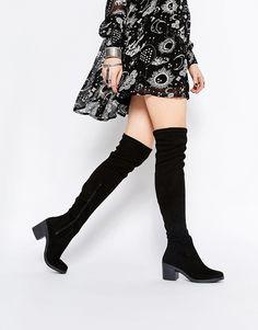 Immagine 1 di ASOS - KRUSH - Stivali sopra il ginocchio