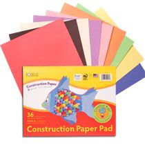 """Roselle Construction Paper, 12x9"""" Pads"""