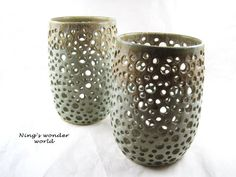 Wheel-thrown pottery vase,  Modern circle design - made to order. $110.00, via #Etsy.