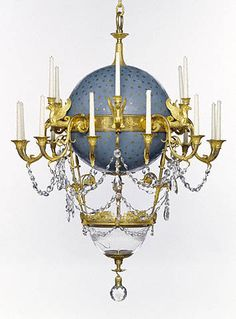 Lustre à Poisson. This is currently at the Getty. It's a hot air balloon chandelier and they used to put water and goldfish in the bowl. Obviously I can't have this one, but I'm sure I can commission a replica. You know, with my gobs of money.