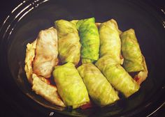 Crockpot vegetarian stuffed cabbage rolls (stuffed with portobello mushrooms and rice) - I will leave out the cheese and egg for a vegan version