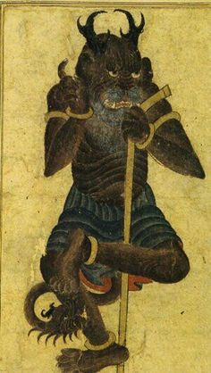 A drawing of a demon made by Mehmed Siyah Kalem.