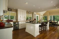 Notice the cabinets on top of the countertop