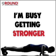"""Have you found yourself extra busy during this first full week of the New Year? DON'T let that stop you from getting your workouts in! EVEN on days that you feel the weakest, there's a """"secret"""" way to get more strength to get you through your day. Studies have shown that one of the BEST ways to give yourself more strength (so that you can do all that your schedule requires) is to exercise. So don't just be busy. Be busy GETTING STRONGER! #GetStronger #30MinuteWorkout #9RoundCoMo"""