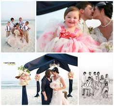 Beach wedding--some great ideas in these pics