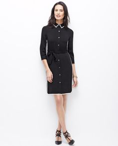 Dress to impress: the indispensable shirtdress is soft-yet-structured l Ann Taylor