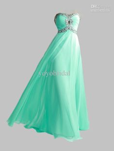 Wholesale 2013 Lime Green Aqua Sweetheart New Hot Chiffon Empire Evening Prom Dresses Bridesmaid Gowns Dress, Free shipping, $111.36/Piece | DHgate