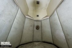 A rare example of a padded cell still in situ. This Pocock Brother's padded cell is in the Royal Hospital Haslar, a Naval hospital in Gosport.