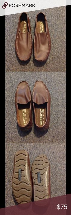 a572dc04aa7b Sperry Topsider Brown Leather Loafer Shoes Mens 11 Very nice condition. A  little wear on the backs but almost no wear on the bottoms.