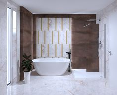 3D látványterv ABK Sensi és Interno burkolattal #3dlátványterv #3dlátványtervezés #baustyl #lakberendezes #lakberendezesiotletek #stylehome #otthon #homedecor #inspiration #design #homeinspiration #interiordesign #interior #elevation #3dplan #bathroom #bathtub #shower #ABK #ABKSensi #ABKInterno #walltiles #foortiles 3d Visualization, Bathroom Ideas, Bathtub, Home Decor, Standing Bath, Bathtubs, Decoration Home, Room Decor, Bath Tube