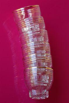 French vintage lo ball / shot glasses with gold line by BOULOTDODO via www.boulotdodo.com