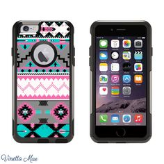 iPhone Otterbox Commuter Series Case for iPhone 5, 5s, 6, 6 Plus Teal Grey Aztec Tribal Women Girl Cell Phone Case Otter Box Life Proof 1122 by VinettaMae on Etsy https://www.etsy.com/listing/208851627/iphone-otterbox-commuter-series-case-for